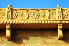 Architectural detail of Jaisalmer Fort Royalty Free Stock Photography