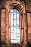 Architectural detail of The Johanneskirche Church in Freiburg im Breisgau, Germany stock images
