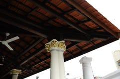 Architectural detail of Kampung Kling Mosque at Malacca, Malaysia Royalty Free Stock Photos