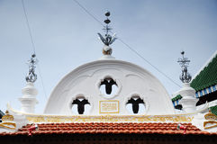 Architectural detail of Kampung Kling Mosque at Malacca, Malaysia Royalty Free Stock Photography