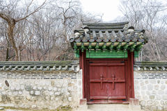 Free Architectural Detail - Korean Tradition Wooden Door And Outdoor Stock Images - 75420144