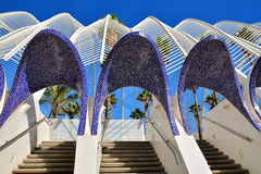 Architectural detail of L`Umbracle , Valencia Stock Photography