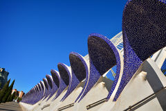 Architectural detail of L`Umbracle , Valencia Stock Image