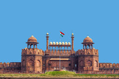 Architectural detail of Lal Qila - Red Fort in Delhi Stock Images