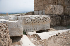 Architectural detail, Laodicea on the Lycus. Architectural detail of the building decoration from ancient Laodikeia city at the Denizli Province, Laodicea on the Stock Images