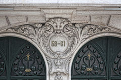 Architectural detail in Lisbon Royalty Free Stock Photo