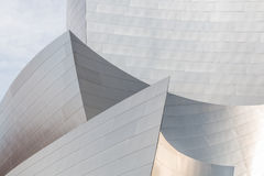 Architectural Detail of the Los Angeles Disney Concert Hall Royalty Free Stock Image