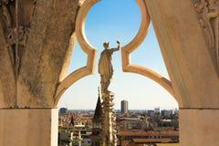 Milan, Italy - September 05, 2017: Milan Cathedral, Duomo di Milano — the gothic cathedral church of Milan. Royalty Free Stock Photo