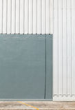 Architectural detail of metal sheet Royalty Free Stock Images