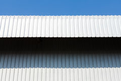 Architectural detail of metal sheet Royalty Free Stock Image