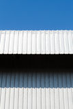 Architectural detail of metal sheet Stock Photos