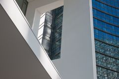 Architectural detail of modern building. With windows Royalty Free Stock Image