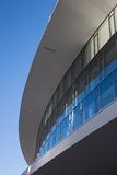 Architectural detail of modern building. Against blue sky Royalty Free Stock Photography