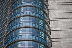 Architectural detail of modern building. Architectural detail of a modern concrete and glass building Royalty Free Stock Photos