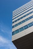 Architectural detail of modern building. Against blue sky Royalty Free Stock Photo
