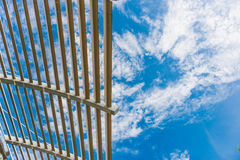 Architectural detail from a modern building. Canopy architectural detail from a modern building Royalty Free Stock Photo