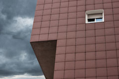 Architectural detail of a modern building. With dramatic sky Stock Photography