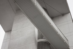 Architectural detail of a modern building Royalty Free Stock Images