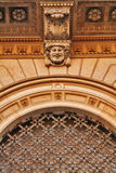 Architectural detail of moldings stock images