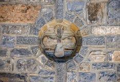 Architectural detail in the monastery Kremaston, Crete, Greece. Architectural detail in the monastery of Saints Michael and Gabriel - Kremaston Kremasti royalty free stock photos