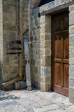 Architectural detail of a monastery in Meteora, Greece Stock Photos