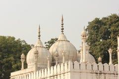 Architectural detail of Moti Masjid Royalty Free Stock Image