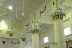 Architectural detail at the Muhammadi Mosque The Kelantan State Mosque in Kelantan Royalty Free Stock Images