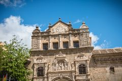 Architectural detail of the museum Santa Cruz de Toledo. Toledo, Spain - April 28, 2018: Architectural detail of the museum Santa Cruz de Toledo on a spring day stock photo