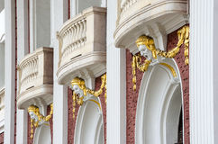 An architectural detail of the National Theater in Sofia, Bulgar Stock Image