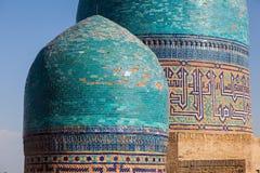 Architectural detail of the necropolis of Shakhi Zinda, Samarkand, Uzbekistan royalty free stock images