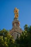 Architectural detail of Notre Dame de la Garde stock images