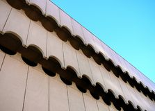 Architectural Detail Of Contemporary Exterior Wave Pattern Royalty Free Stock Photos