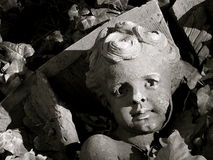 Architectural Detail Of Fallen Angel Royalty Free Stock Photography