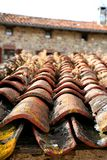 Architectural Detail Of Grunge Roof Tiles Royalty Free Stock Photography
