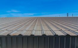 Free Architectural Detail Of Metal Roofing On Commercial Construction Royalty Free Stock Photo - 188624875