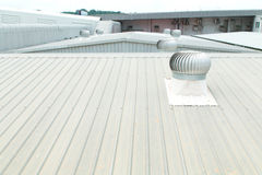 Free Architectural Detail Of Metal Roofing On Commercial Construction Stock Photography - 51312522