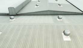 Free Architectural Detail Of Metal Roofing On Commercial Construction Royalty Free Stock Photography - 51312717
