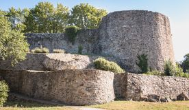 Free Architectural Detail Of The Medieval Castle Of Montaigu , France Stock Photo - 158184970