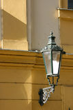Architectural detail of a old building. Close-up of a lantern on an old building (Prague Royalty Free Stock Photo