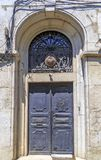 Architectural detail, old ornate door Royalty Free Stock Photography