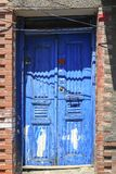 Architectural detail, old ornate door. Of an aged building in Istanbul Royalty Free Stock Photos
