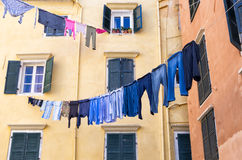 Architectural detail in the old town of Corfu island, Greece Royalty Free Stock Image