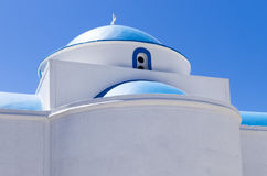 Architectural detail of an Orthodox church, in Kimolos island, Cyclades, Greece Stock Photo