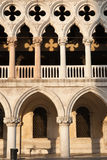 Architectural detail Palazzo Doge's, Venice. Royalty Free Stock Image