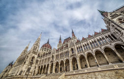 Architectural detail of the parliament building in Budapest, Hungary Royalty Free Stock Photos