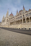 Architectural detail of the parliament building in Budapest, Hungary Stock Photos