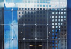 Architectural pattern with glass. Architectural detail with patterned glass windows royalty free stock images