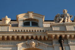 Architectural detail of Pharo Palace Stock Images