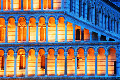 Architectural detail of the Pisa Cathedral Stock Images