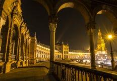 Architectural detail - plaza de espana Seville, Andalusia, Spain. stock images